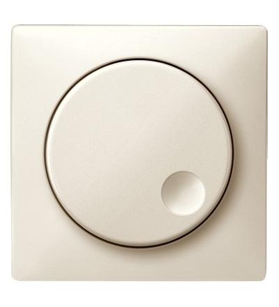 MTN5250-4044 Centrální deska s rotačním tlačítkem pro stmívač, white cream, S-Design, Schneider Electric