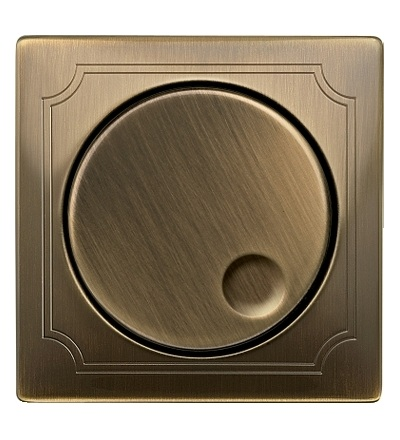 MTN5250-4143 Centrální deska pro otočný stmívač do 600 VA, S-Design, antique brass, Schneider Electric