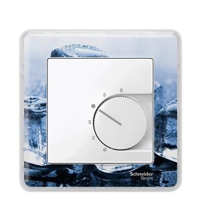 MTN534719 Centrální deska pro mechanismus ovládání teploty místnosti se spínačem, System M, polar, Schneider Electric