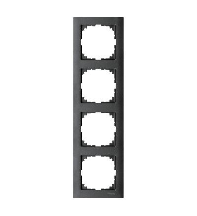 MTN4040-3614 Rámeček 4násobný M-Pure, antracit, Schneider Electric