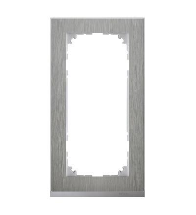 MTN4025-3646 Rámeček 2násobný M-Pure Decor, stainless steel/aluminium, bez středového můstku, Schneider Electric