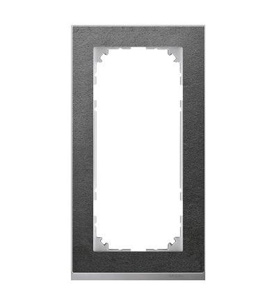 MTN4025-3669 Rámeček 2násobný M-Pure Decor, slate/aluminium, bez středového můstku, Schneider Electric
