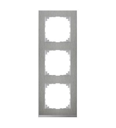 MTN4030-3646 Rámeček 3násobný M-Pure Decor, stainless steel/aluminium, Schneider Electric