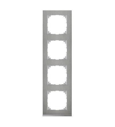 MTN4040-3646 Rámeček 4násobný M-Pure Decor, stainless steel/aluminium, Schneider Electric
