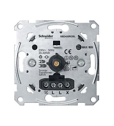MTN5138-0000 Univerzální rotační stmívač 20-420W/VA, Schneider Electric