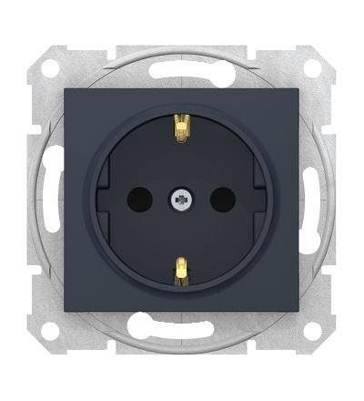 SDN3001770 Zásuvka schuko 2P+PE s dětsk. clonkami bezšroubová, graphite, Schneider Electric