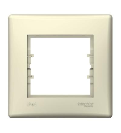 SDN5810547 Rámeček IP44 jednonásobný, beige, Schneider Electric
