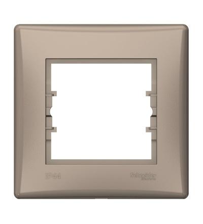 SDN5810568 Rámeček IP44 jednonásobný, titan, Schneider Electric