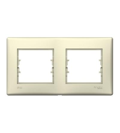 SDN5810647 Rámeček IP44 dvojnásobný, beige, Schneider Electric