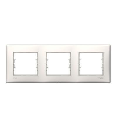 SDN5810723 Rámeček IP44 trojnásobný, cream, Schneider Electric