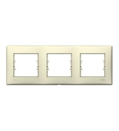 SDN5810747 Rámeček IP44 trojnásobný, beige, Schneider Electric