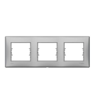 SDN5810760 Rámeček IP44 trojnásobný, alu, Schneider Electric