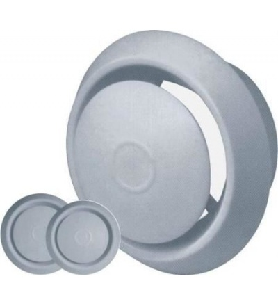 Anemostat plastový, bílý, s tlačnou aretací,  O 170 / 120 mm 600871