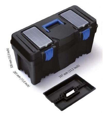 Box plastový, na nářadí, Caliber, 550 x 267 x 270 mm 600324