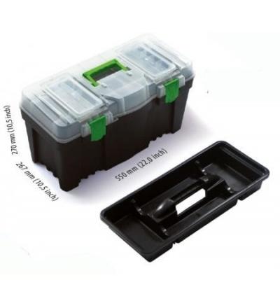 Box plastový, na nářadí, Greenbox, 550 x 267 x 270 mm 600332