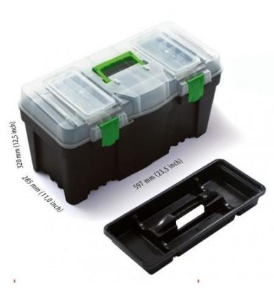 Box plastový, na nářadí, Greenbox, 597 x 285 x 320 mm 600333