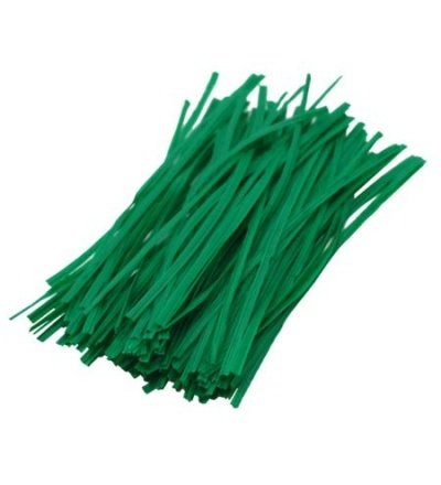 Drát ocelový, poplastovaný, zelený, 100 ks, 0,4 x 200 mm 307024