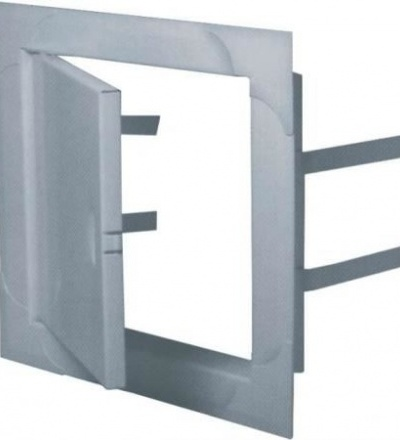 Dvířka revizní, kovová, bílá, 150 x 200 mm 600902