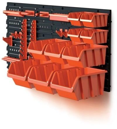 Ekobox plastový, sada 10 boxů, 2 panely a 2 držáky, 800 x 195 x 400 mm 600311