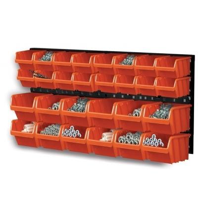 Ekobox plastový, sada 28 boxů, 2 panely, 800 x 195 x 400 mm 600308