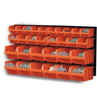 Ekobox plastový, sada 30 boxů a 2 panely, 800 x 195 x 400 mm 600310