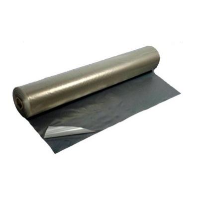 Fólie zakrývací, stavební, šedá, polorukáv, 0,1 mm / 2 m x cca 25 kg 600190