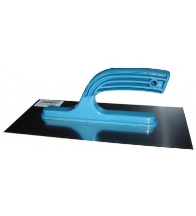 Hladítko nerezové, s plastovou rukojetí, hladké, 270 x 130 mm, hobby 109121