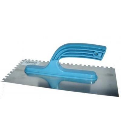 Hladítko nerezové, s plastovou rukojetí, zub 4 mm, 270 x 130 mm, hobby 109122