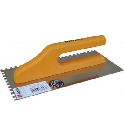 Hladítko ProTec, nerezové, zub 8 mm, s drevěnou rukojetí, 280 x 130 mm 803054
