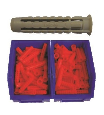 Hmoždinka TX-PA, do plného i dutého materiálu, 2 boxy, O 8 x 40 mm / 200 ks 600421