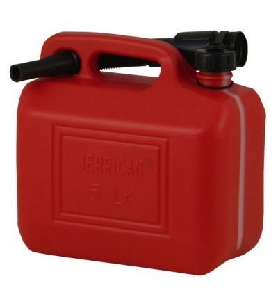 Kanystr plastový, červený, na PHM, 5l 309323