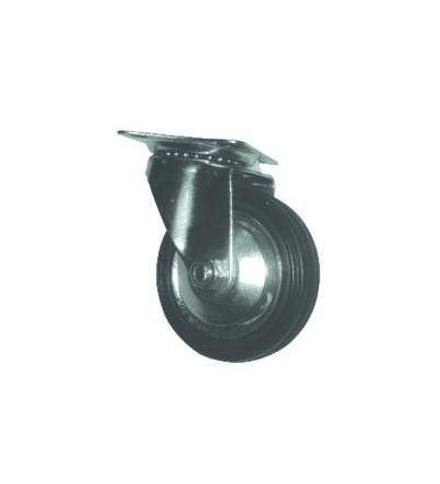 Kolečko otočné, kov, pryž, O 125 mm / 80 kg 705006