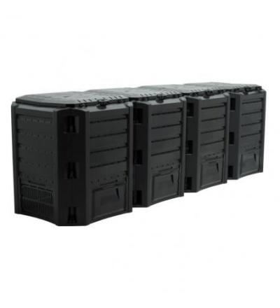 Kompostér plastový, černý, maximus, 1600l 309232