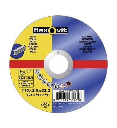 Kotouč Flexovit, na kov,  115 x 22,23 x 2 mm, profi 501350