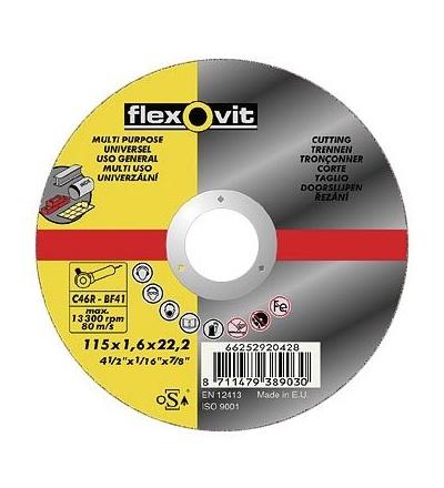 Kotouč Flexovit, univerzální, 150 x 22,23 x 1,6 mm, profi 501347
