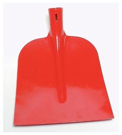 Lopata ocelová, stájová, holštýnská, červený lak,  profi 105337