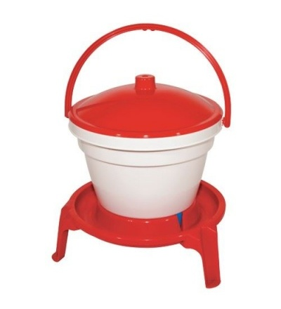 Napáječka plastová, kbelíková, na podstavci, pro drůbež, 12l 308060