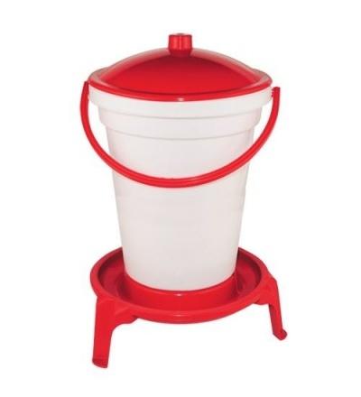 Napáječka plastová, kbelíková, na podstavci, s plovákem, pro drůbež, 24l 308062