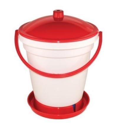 Napáječka plastová, kbelíková, s plovákem, pro kuřata, 24l 308056