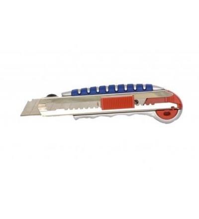 Nůž odlamovací, hliníkový, samonabíjecí, v blistru,18 mm 200214