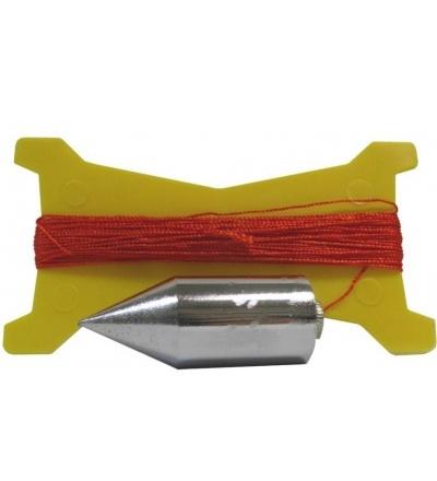 Olovnice pozinkovaná, s provázkem, sada,  100 g / 15 m 600640