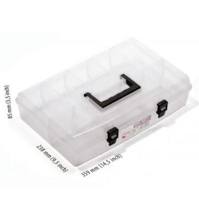 Organizér plastový, nun, přepážkový systém, průhledný,359 x 238 x 85 mm 600343