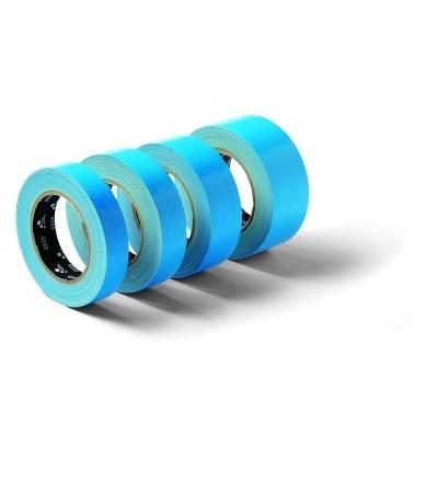 Páska lepící, tkaninová, UV odolná, modrá, 38 mm x 25 m 701409
