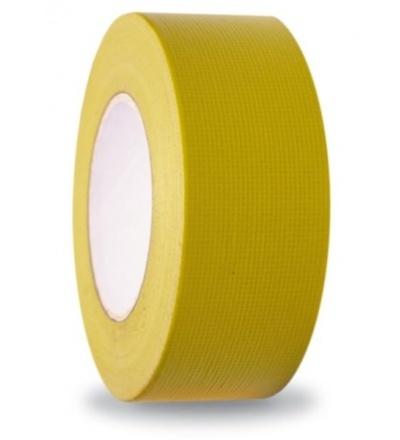 Páska lepící, tkaninová, UV odolná, robustní, žlutá, 44 mm x 50 m 701437