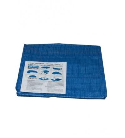 Plachta krycí , modrá, s kovovými oky, 5 x 8 m, standard plus 600561