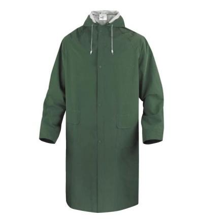 Plášť do deště, s kapucí, zelený, velikost XL 600246