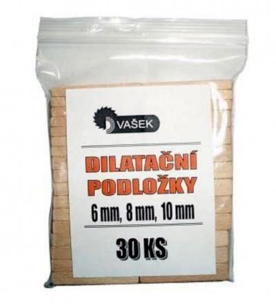 Podložky dřevěné, dilatanční, balení 30 ks, 6 – 8 – 10 mm 108110
