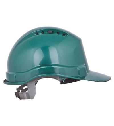 Přilba stavební, ochranná, zelená 600239