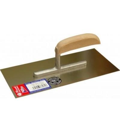 Racek hladítko, nerezové, EURO, hladké, s dřevěnou rukojetí, 280 x 130 mm 806071