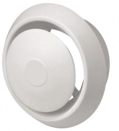REFLEX anemostat plastový, bílý, s tlačnou aretací,  O 150 / 100 mm 600870